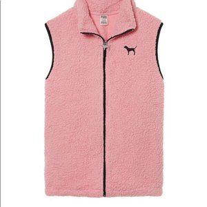 Victoria's Secret PINK, Pink Sherpa Vest Large